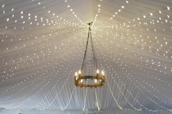 fairy light chandelier