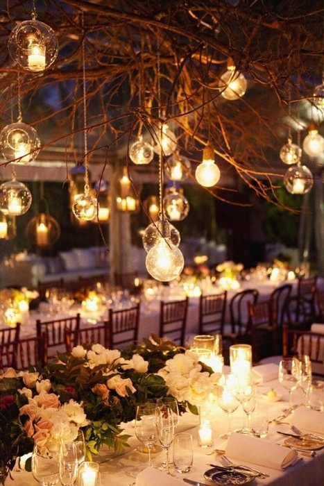 table setting lights